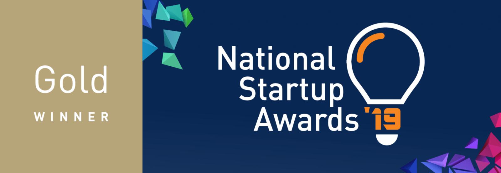Gold winner of the National Startup Awards 2019