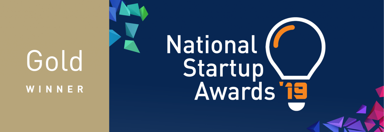 Gold winner of the National Startup Awards 2019